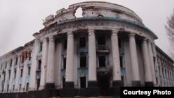 Вокзал станции Ясиноватая на Донбассе