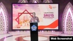 Sekretaris Direktorat Jenderal Pengelolaan Pembiayaan dan Risiko Kemenkeu Iyan Rubianto dalam telekonferensi pers acara Launching SR015 di Jakarta, Jumat (20/8) berharap penerbitan sukuk ritel bisa memperluas cakupan investor domestik (VOA).