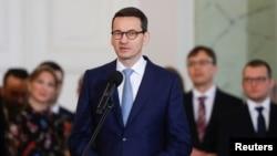 波兰总理莫拉维茨基2018年1月9日宣誓就职(路透社)