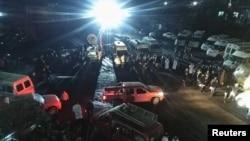 지난달 31일 폭발 사고가 발생한 중국 충칭의 탄광에 구조대가 출동했다.