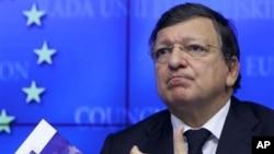 ဥေရာပ ေကာ္မရွင္ ဥကၠ႒ Jose Manuel Barroso။ (ေအာက္တိုဘာလ ၁၈ ရက္၊ ၂၀၁၂)။