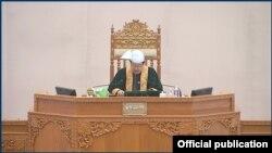 ျပည္ေထာင္စုလႊတ္ေတာ္ နာယက ဦးတီခြန္ျမတ္ (သတင္းဓာတ္ပံု - Pyidaungsu Hluttaw - မတ္ ၁၆၊ ၂၀၂၀)