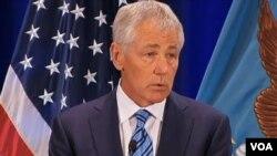 美国国防部长哈格尔表示要严肃对待朝鲜威胁(视频截图)