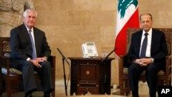 آقای تیلرسون در دیدار با میشل عون رئیس جمهوری لبنان.
