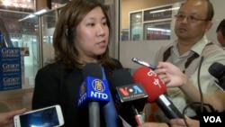 美國國會華裔女眾議員孟昭文接受媒體採訪(2016年11月5日)
