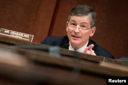 FILE - Chairman of the House Financial Services Committee Jeb Hensarling (R-TX)