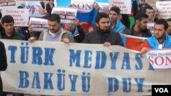 """İstanbulda """"Əsgər ölümlərinə son"""" aksiyası"""