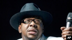 Singer Bobby Brown, former husband of the late Whitney Houston performs at Mohegan Sun Casino in Uncasville, Conn., Feb. 18, 2012.