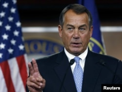 Speaker of the House John Boehner (R-OH) during a news conference on Capitol Hill in Washington, November 9, 2012.