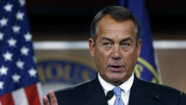 Description: Speaker of the House John Boehner (R-OH) during a news conference on Capitol Hill in Washington, November 9, 2012.
