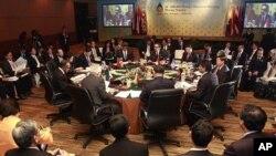东盟成员国与中日韩各国外长7月19日在印尼巴厘岛开会