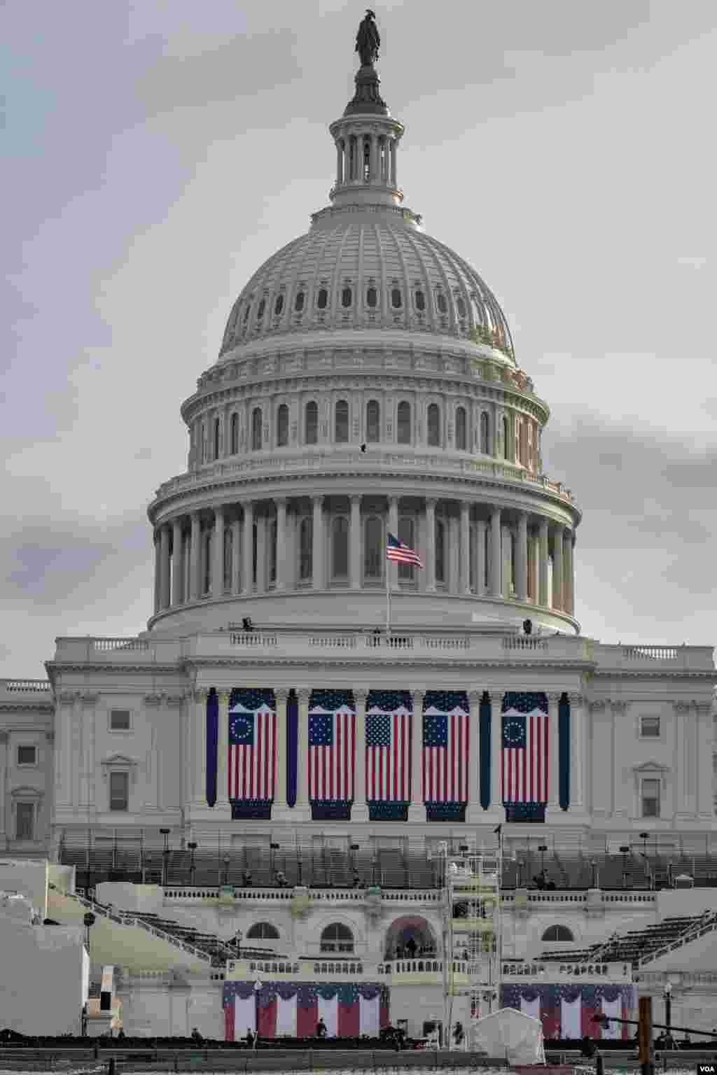 کنگره آمریکا در ۲۴ ساعت پیش از اجرای مراسم تحلیف چهل و پنجمین رئیس جمهوری آمریکا