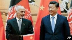 محمد اشرف غنی احمدزی، رئیس جمهور افغانستان و شی جینپینگ، رئیس جمهور چین