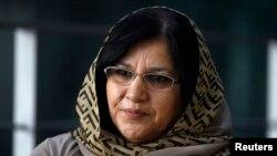 FILE - Member of the Afghan parliament Golalei Nur Safi.