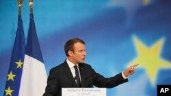 Perezida Emmanuel Macron w'Ubufaransa.
