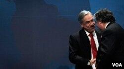 Los líderes, como el presidente chileno Sebastián Piñera, buscan establecer de una zona de libre comercio.