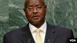 Shugaban Uganda Yoweri Musoveni wanda yake neman sake zarcewa bayan ya kwashe fiye da shekaru talatin yana mulki