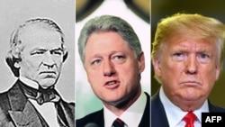 Andrew Johnson, Bill Clinton i Donald Trump
