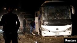 Mesto eksplozije u Gizi, u Egiptu, 28. decembar 2018.