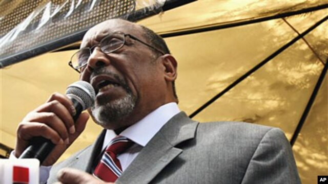 "Somaliland's President Ahmed Mohamed ""Silyano"" Mohamoud was sworn in as Somaliland's 4th president on 27 Jul 2010 Hargeisa, Somaliland"