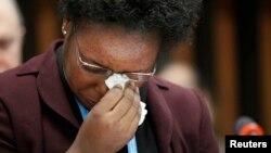 Une survivante d'Ebola à l'OMS, Genève, 25 janvier 2015. (REUTERS/Pierre Albouy)