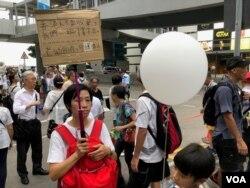香港銀髮族2019年7月17日上街遊行支持年輕人反送中抗爭(美國之音海彥拍攝)