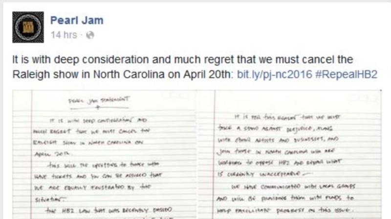 15:17 [Voice of America] Katherine Gypson: New Boycotts Over Controversial  North Carolina Law ...