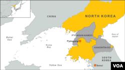 北韓洪災災區位置