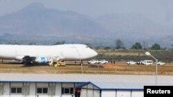Un Boeing 747 sur le tarmac de l'aéroport de la capitale Abuja, 5 décembre 2013.