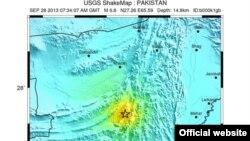 9月28日﹐巴基斯坦西南部又發生一次6.8級大地震。(美國地質勘探局圖片)