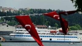 Turkish aid ship, the Mavi Marmara, is seen in Istanbul, Turkey on May 30, 2011.