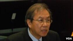 真普聯召集人鄭宇碩表示,民調結果一個警惕 (美國之音湯惠芸)