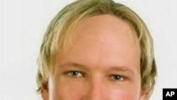Fotografia do suspeito do ataque na Noruega, Anders Behring Breivik