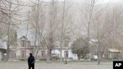 智利一个山区旅游点的地面覆盖着厚厚一层火山灰