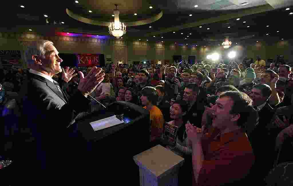 Ron Paul prefirió visitar Fargo, en Dakota del Norte durante las asambleas estatales del Supermartes.