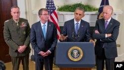 Tổng thống Obama nói về quyết định kéo chậm đà rút quân khỏi Afghanistan tại Tòa Bạch Ốc ngày 15/10/2015.