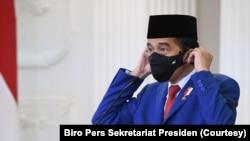 Presiden Joko Widodo bersiap memberikan pidato untuk Sidang Umum PBB yang digelar secara virtual, Rabu, 23 September 2020. (Foto: Biro Pers Sekretariat Presiden)