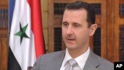 Rais wa Syria Bashar al-Assad .