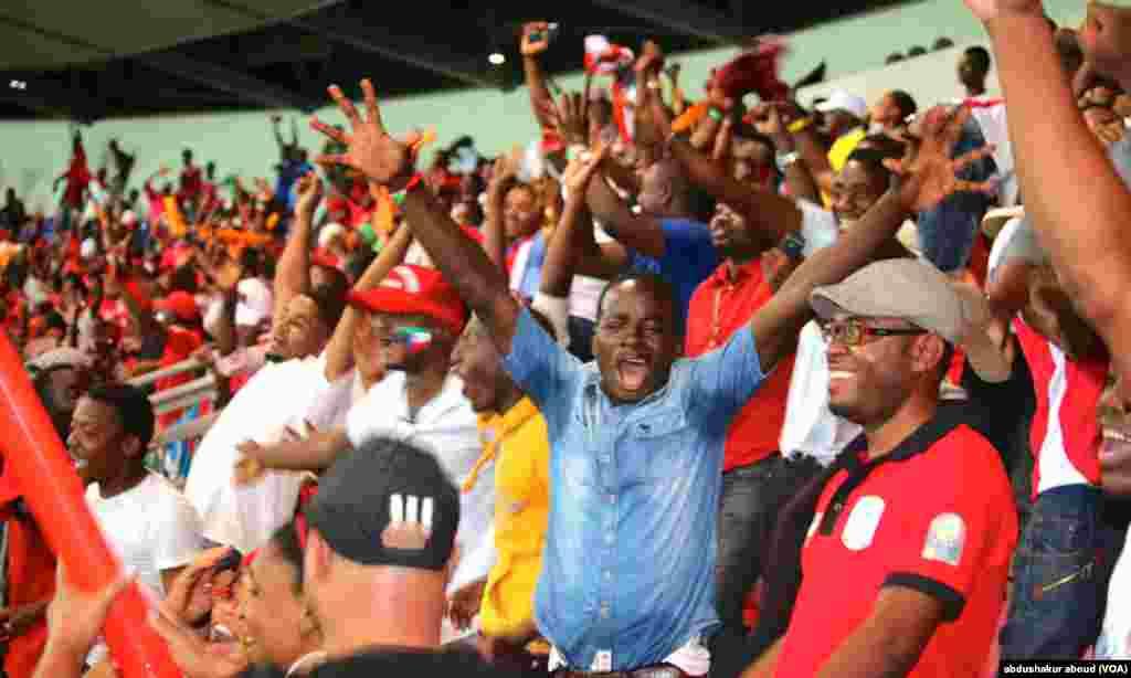CAN: Mashabiki washerehekea goli la pili la Equatorial Guinea