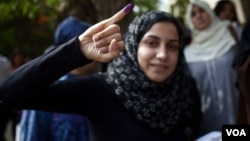 Egipćanka nakon glasanja za predsednika