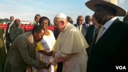羅馬天主教教宗在烏干達