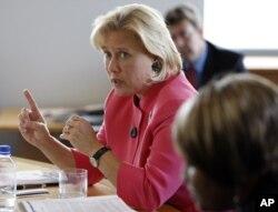路易斯安那州民主党籍参议员玛丽•兰德鲁(Mary Landrieu)(资料照片)