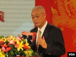 台湾副总统吴敦义(美国之音张永泰拍摄)