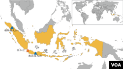 西苏门答腊岛锡纳朋火山和爪哇岛默拉皮火山地理位置
