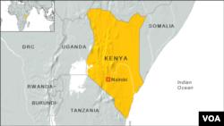Peta wilayah Kenya.