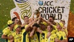 APTOPIX Cricket WCup New Zealand Australia