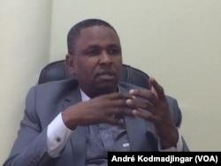 Daouda El-Hadj Adam SG de l'ADC N'Djamena, le 9 janvier 2018. (VOA/André Kodmadjingar)