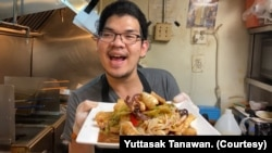 """Yuttasak Tanawan, """"Chef Tang,"""" a Thai chef in Washington D.C. runs a popular cooking show on his Facebook and Youtube channels."""