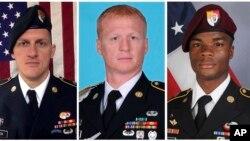Trois des quatre soldats américains morts dans une embuscade au Niger.