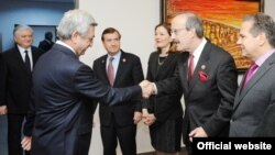 Armenian President Serzh Sargsyan received US Congressmen delegation, Yerevan, April 24, 2014